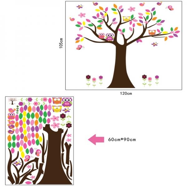 Sticker decorativ copii - Copacelul roz 5