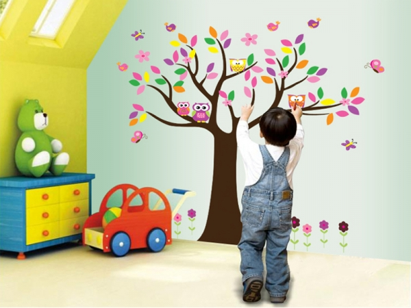 Sticker decorativ copii - Copacelul roz 1