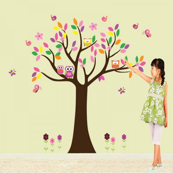 Sticker decorativ copii - Copacelul roz 2