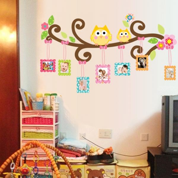 Sticker decorativ copii - Creanga cu rame foto 1