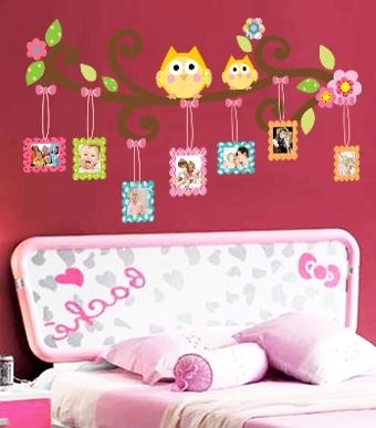 Sticker decorativ copii - Creanga cu rame foto 3