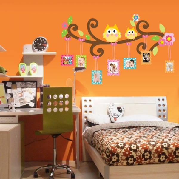 Sticker decorativ copii - Creanga cu rame foto 2