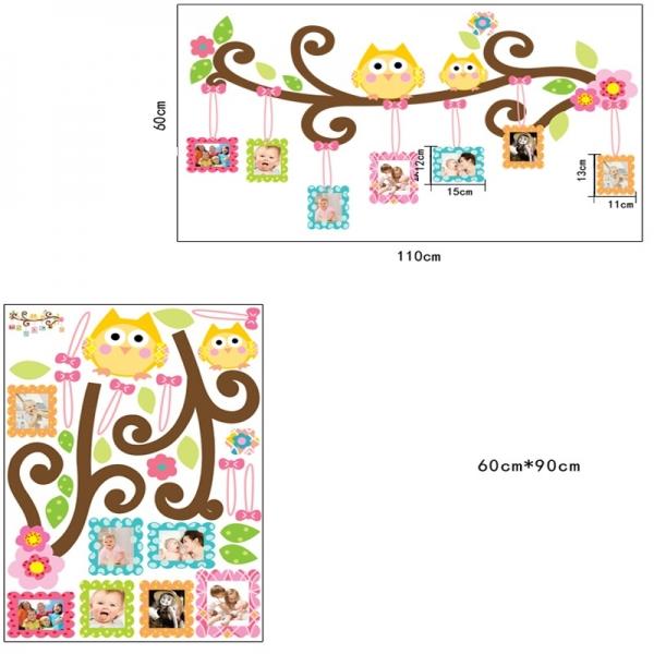 Sticker decorativ copii - Creanga cu rame foto 5