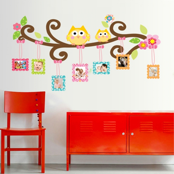 Sticker decorativ copii - Creanga cu rame foto 4