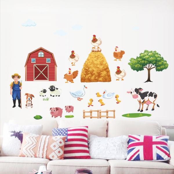 Sticker pentru copii - Animale la ferma 0