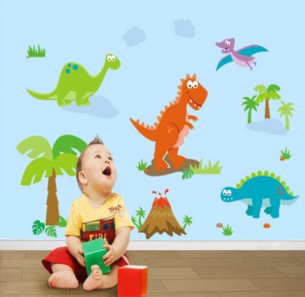 Sticker decorativ copii - Lumea dinozaurilor 3