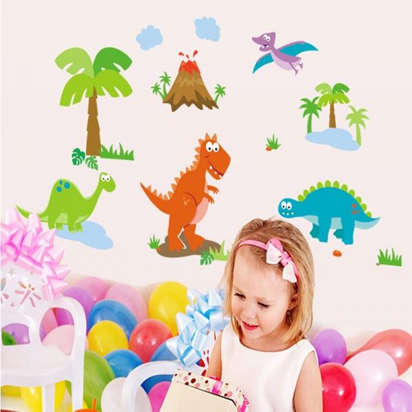 Sticker decorativ copii - Lumea dinozaurilor 0