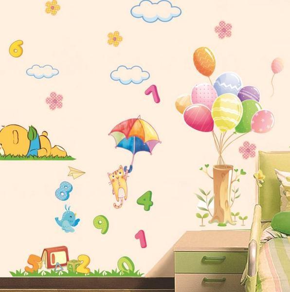Sticker decorativ copii - Sa ne jucam cu numerele 4