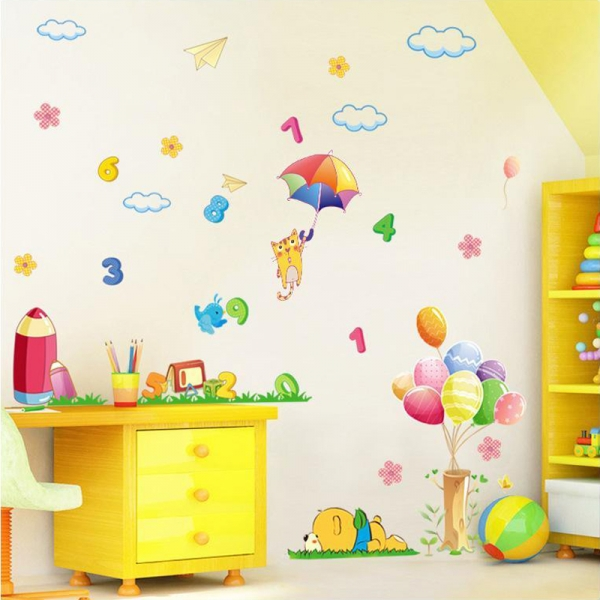 Sticker decorativ copii - Sa ne jucam cu numerele 1