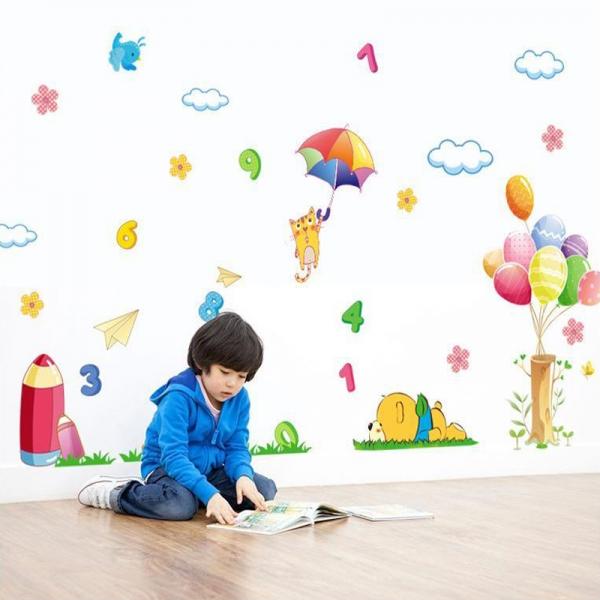 Sticker decorativ copii - Sa ne jucam cu numerele 0