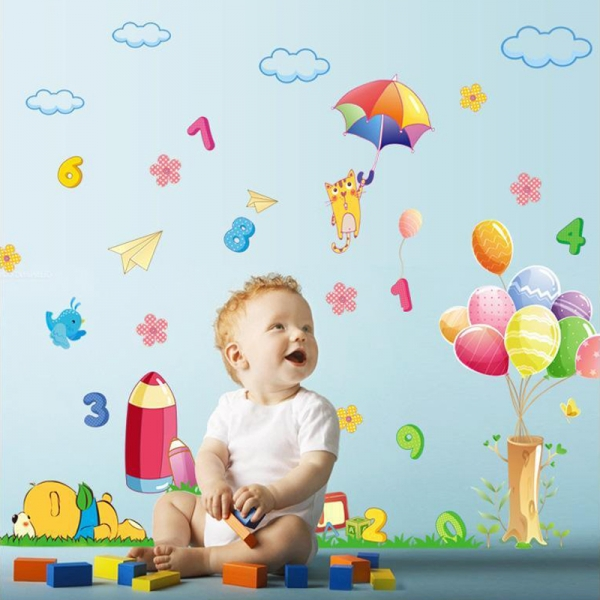 Sticker decorativ copii - Sa ne jucam cu numerele 3