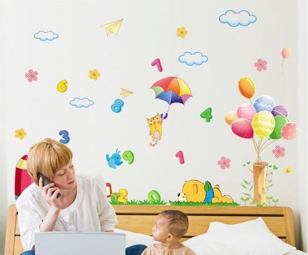 Sticker decorativ copii - Sa ne jucam cu numerele 5