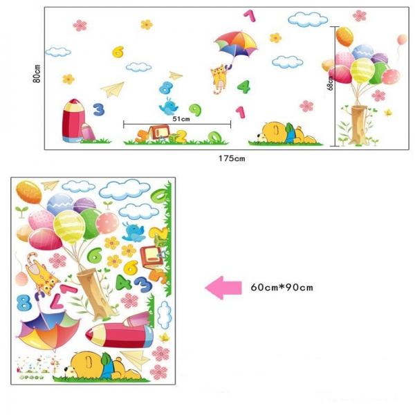 Sticker decorativ copii - Sa ne jucam cu numerele 6