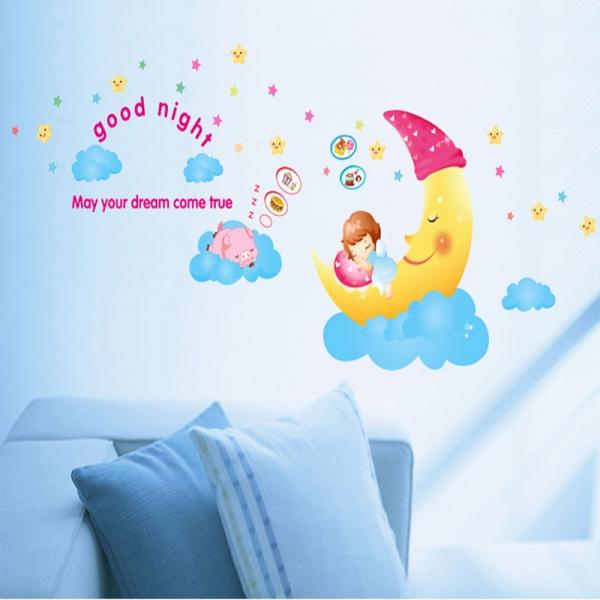 Sticker decorativ copii - Somn usor! 1