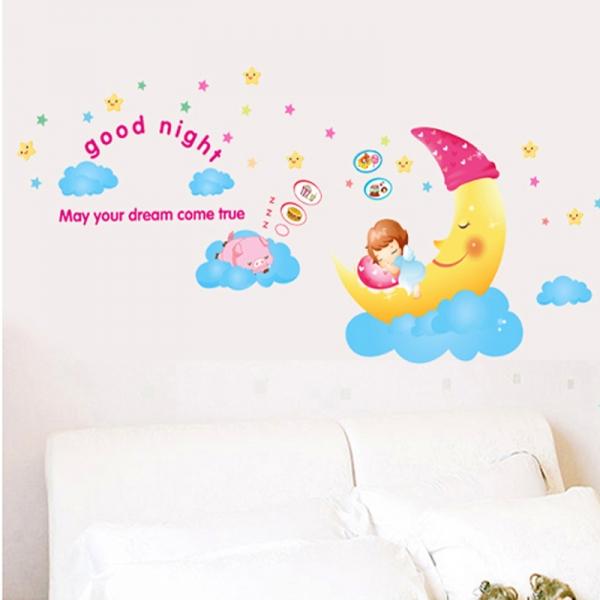 Sticker decorativ copii - Somn usor! 0
