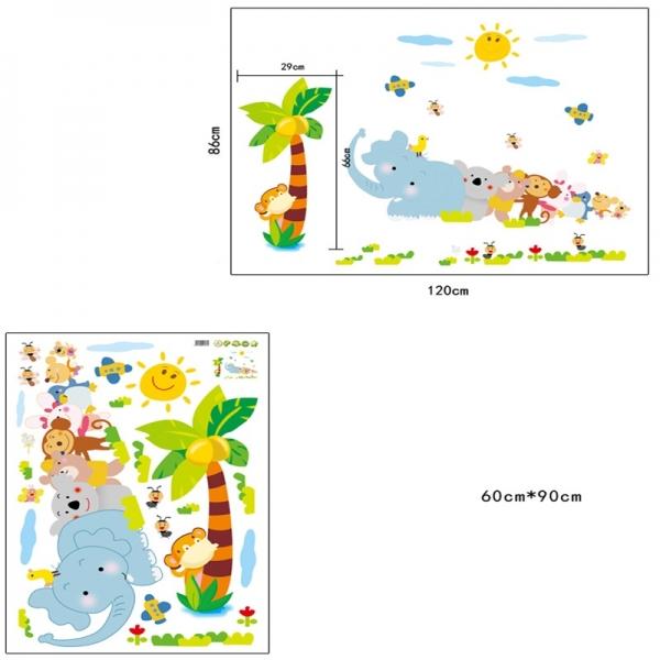 Sticker decorativ copii - Trenuletul animalelor [5]
