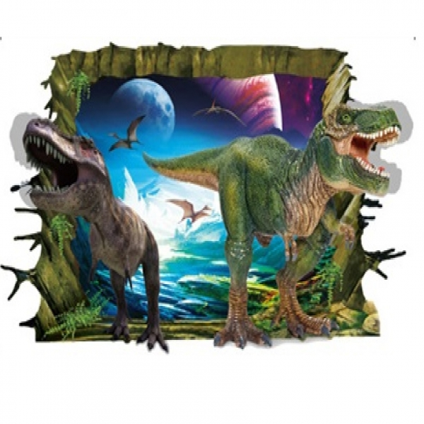 Sticker decorativ de perete 3D - Dinozauri 4