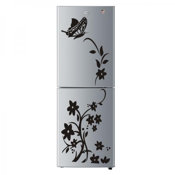 Sticker decorativ frigider - Flori si fluturi 3