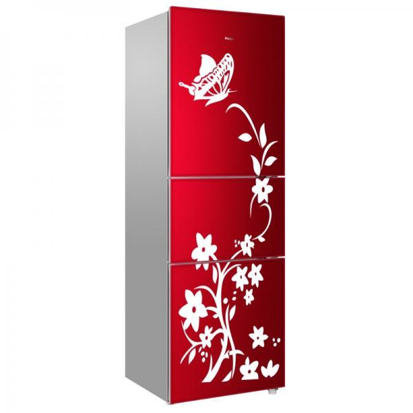 Sticker decorativ frigider - Flori si fluturi 1