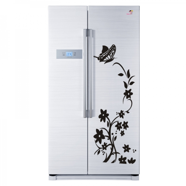 Sticker decorativ frigider - Flori si fluturi 4