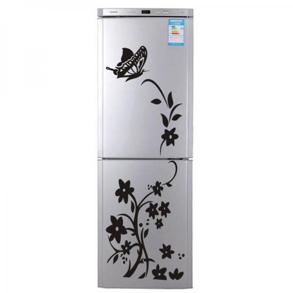 Sticker decorativ frigider - Flori si fluturi 2