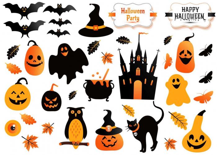 Sticker decorativ Halloween - 50x70 cm 0