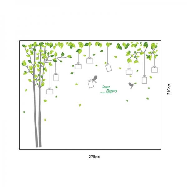 Sticker decorativ - Padure verde cu rame foto 4
