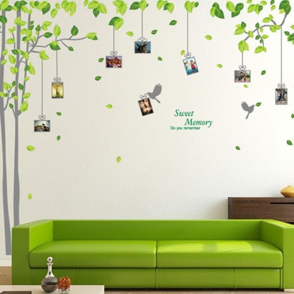 Sticker decorativ - Padure verde cu rame foto 1