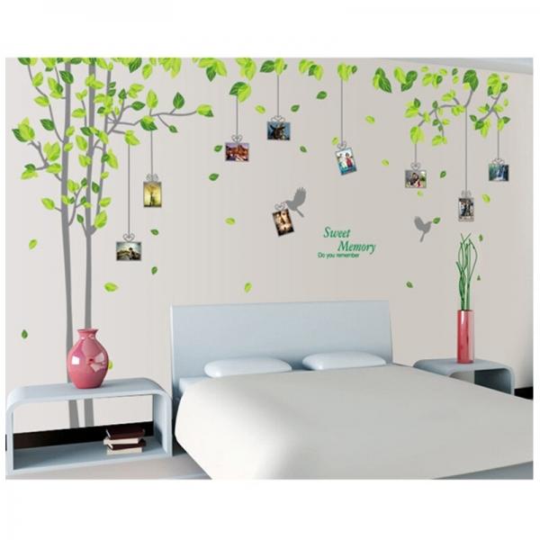 Sticker decorativ - Padure verde cu rame foto 2