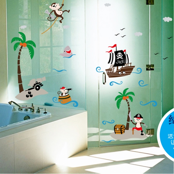 Sticker decorativ pentru baieti - Piratii naufragiati 5