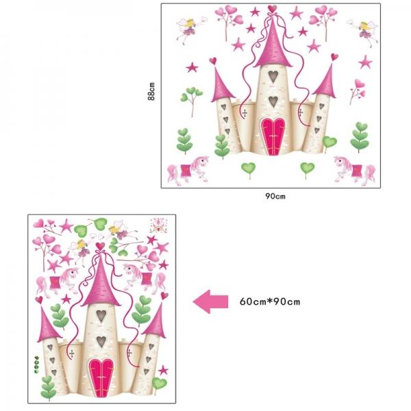 Sticker decorativ pentru fete- Castelul din poveste 5