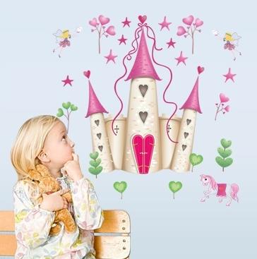 Sticker decorativ pentru fete- Castelul din poveste 1