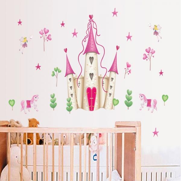 Sticker decorativ pentru fete- Castelul din poveste 3