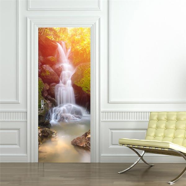 Sticker decorativ pentru usi - Cascada - 2 folii de 38,5x200 cm 0