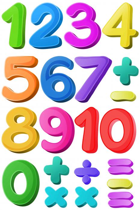 Sticker educativ, Numere Colorate, 60x90 cm [0]