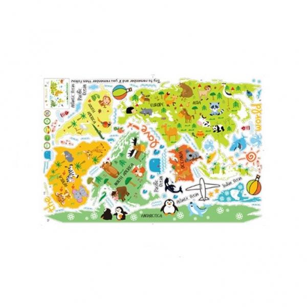 Sticker educativ - Harta animata a lumii pentru copii 5