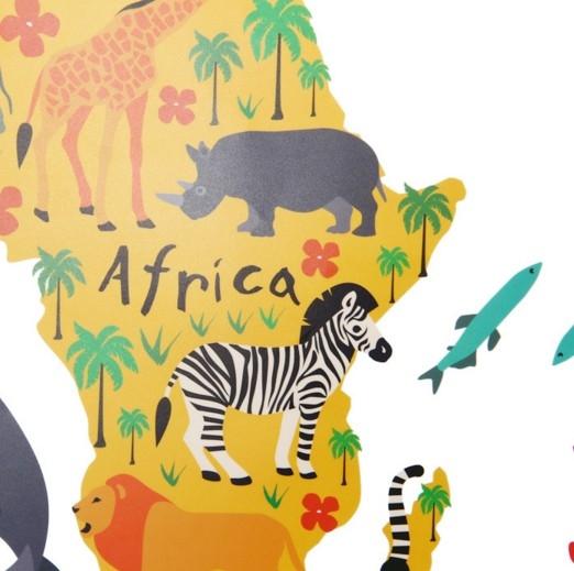 Sticker educativ pentru copii - Harta lumii pentru copii 4