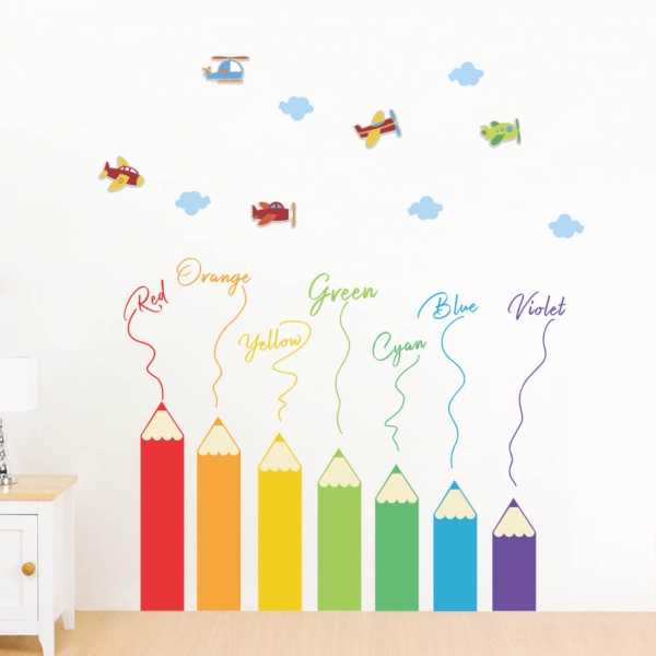 Sticker educativ pentru copii - Invatam culorile - 110x120 cm 4