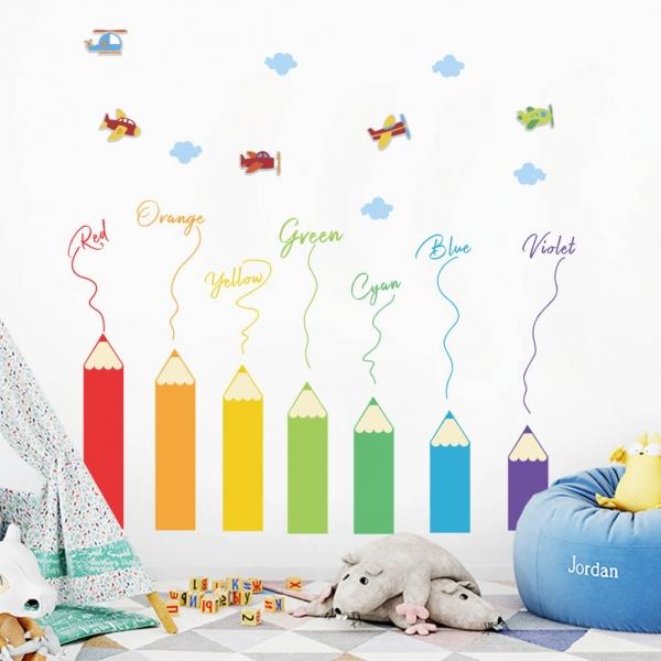Sticker educativ pentru copii - Invatam culorile - 110x120 cm 0