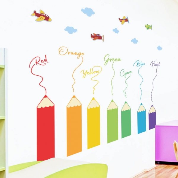 Sticker educativ pentru copii - Invatam culorile - 110x120 cm 6