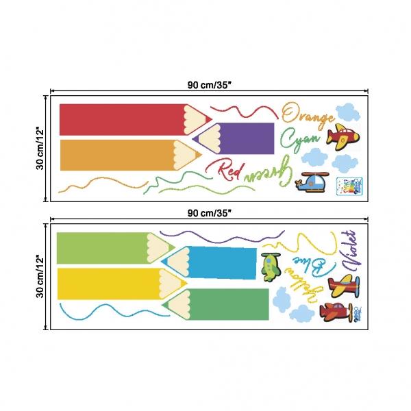 Sticker educativ pentru copii - Invatam culorile - 110x120 cm 5