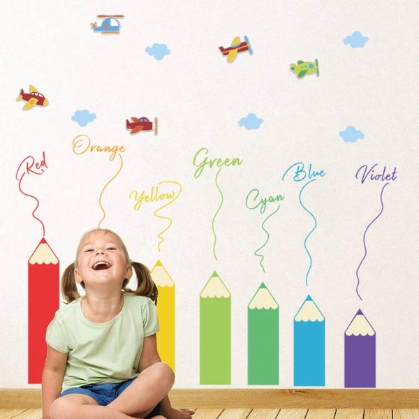 Sticker educativ pentru copii - Invatam culorile - 110x120 cm 1