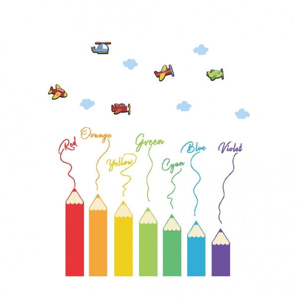 Sticker educativ pentru copii - Invatam culorile - 110x120 cm 7