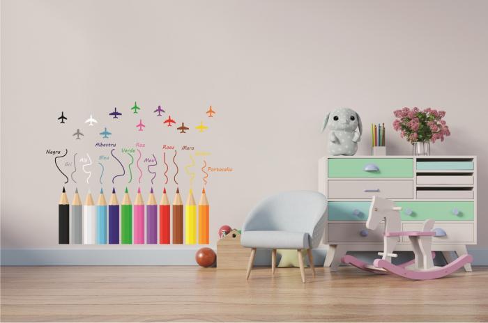 Sticker educativ pentru copii - Invatam culorile 1