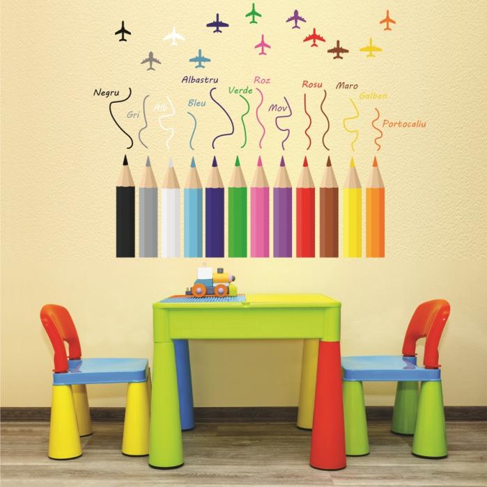 Sticker educativ pentru copii - Invatam culorile 0