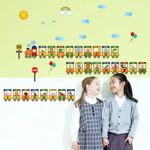 Sticker educativ - Vagoane cu literele alfabetului 5