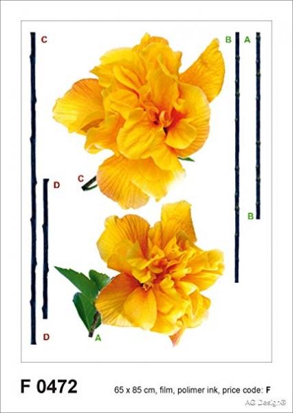 Sticker Garoafa Galbena - Carnation - 65x85cm - F0472 0
