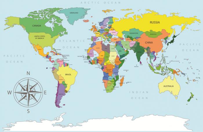 Sticker Harta Lumii - Tari si Oceane 0