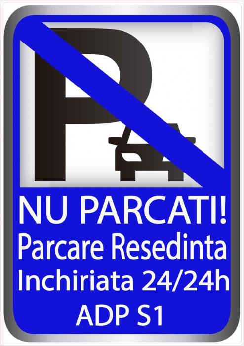 Sticker Indicator Nu Parcati - Parcare Resedinta - ADP 0