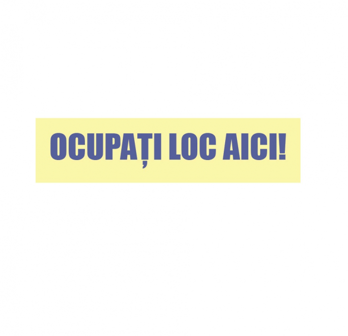 Sticker Indicator Ocupati Loc Aici 0